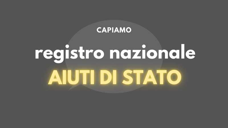 registro nazionale aiuti di stato